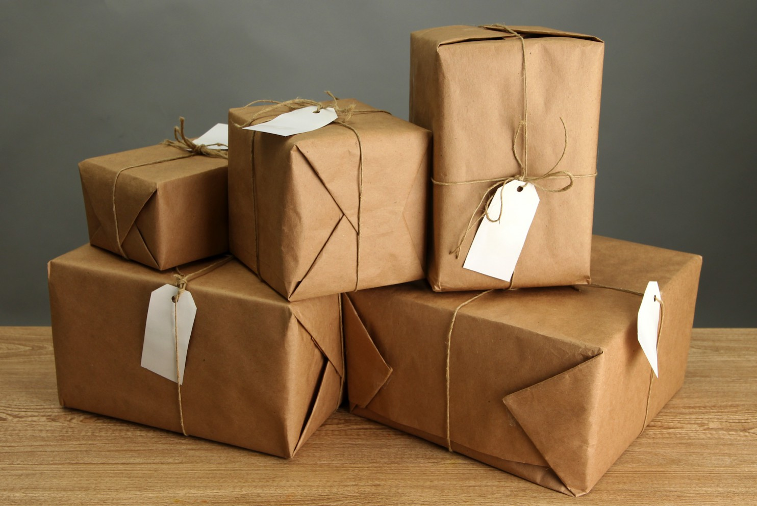 brown paper parcel packages ready for delivery