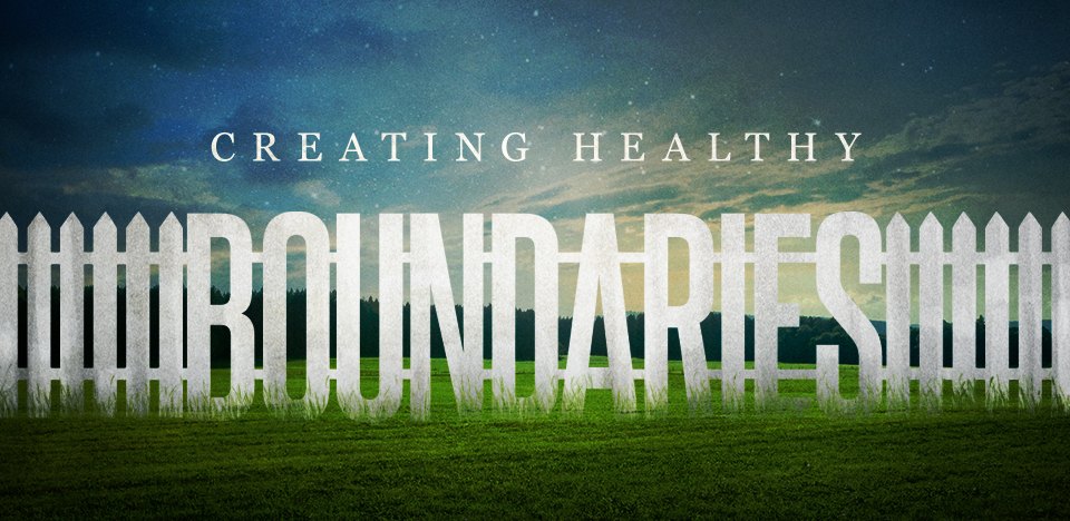 Setting Healthy Boundaries written as white picket fence
