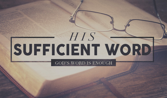 open Bible - His sufficient word - God's word is enough