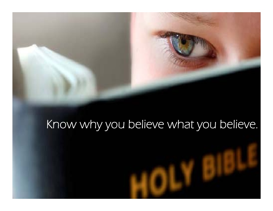 What you believe and why you believe it - theology matters