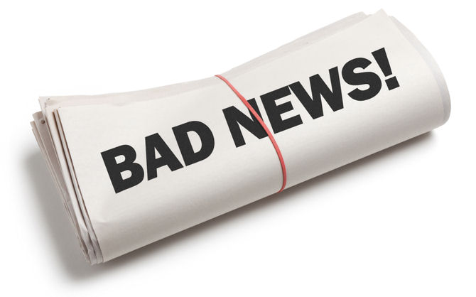 Rolled newspaper - Bad news