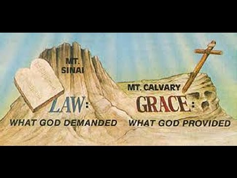 What God demanded - law versus what God provided - grace