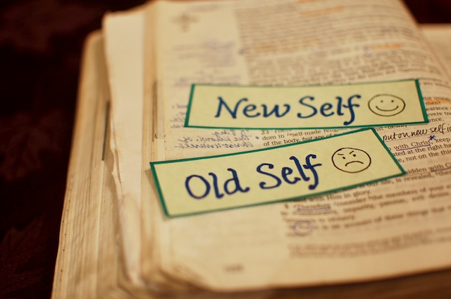 Old self new self - old open bible - romans 6:5-11